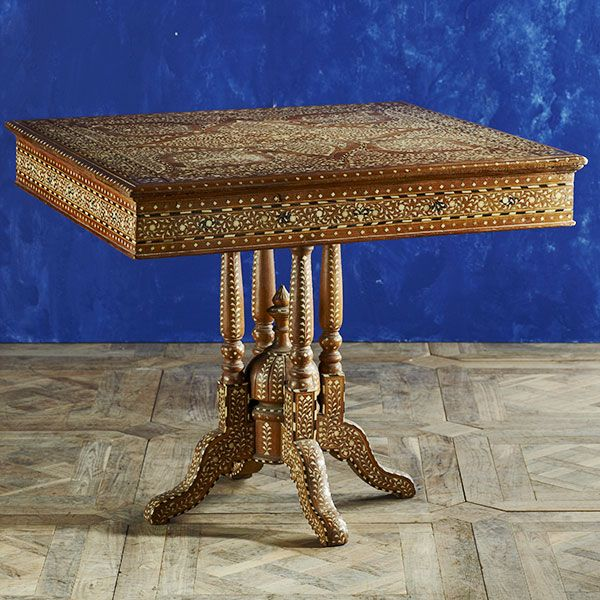 Wisteria Collections Rare Birds Bone Inlay Dining Table