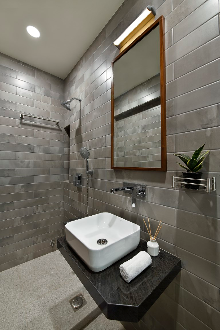 The Colors Of Kerala An Apartment With A Traditional Touch Asavari Kanhere The Architects Diary Simple Bathroom Simple Bathroom Designs Bathroom Design