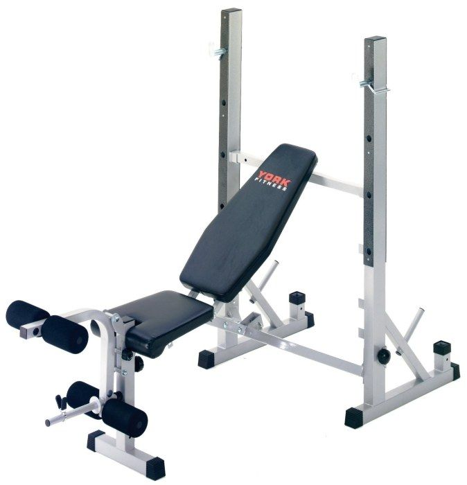York B540 Heavy Duty 2 In 1 Bench Squat Stand Squat Stands Bench Press Weight Benches
