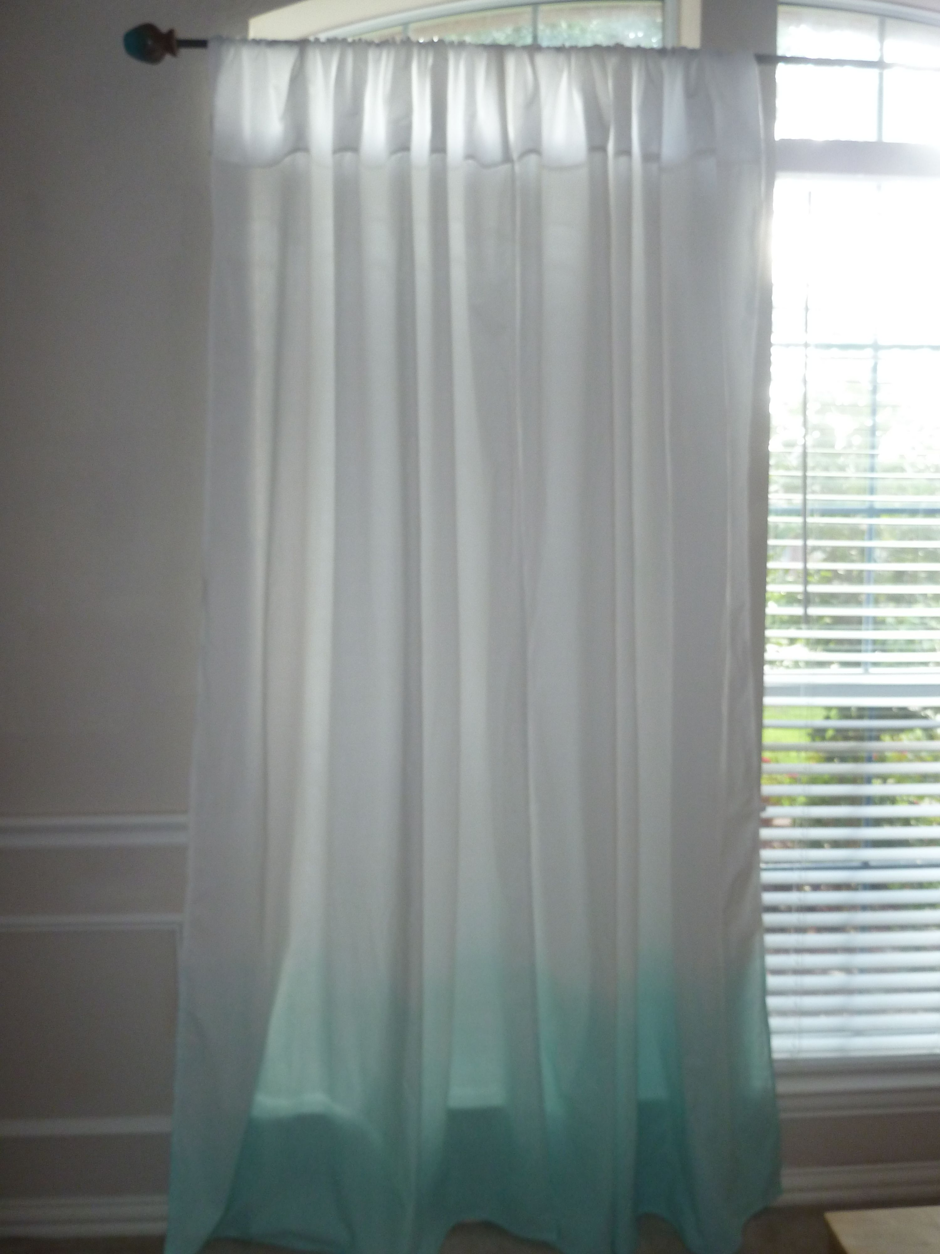Ombre Seafoam Curtain Panel See On Etsy Com Sewsueprops 34