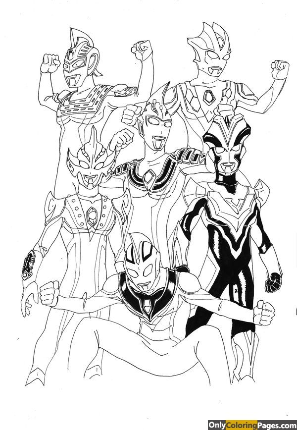 Ultraman Mebius Coloring Pages Warna Gambar Buku