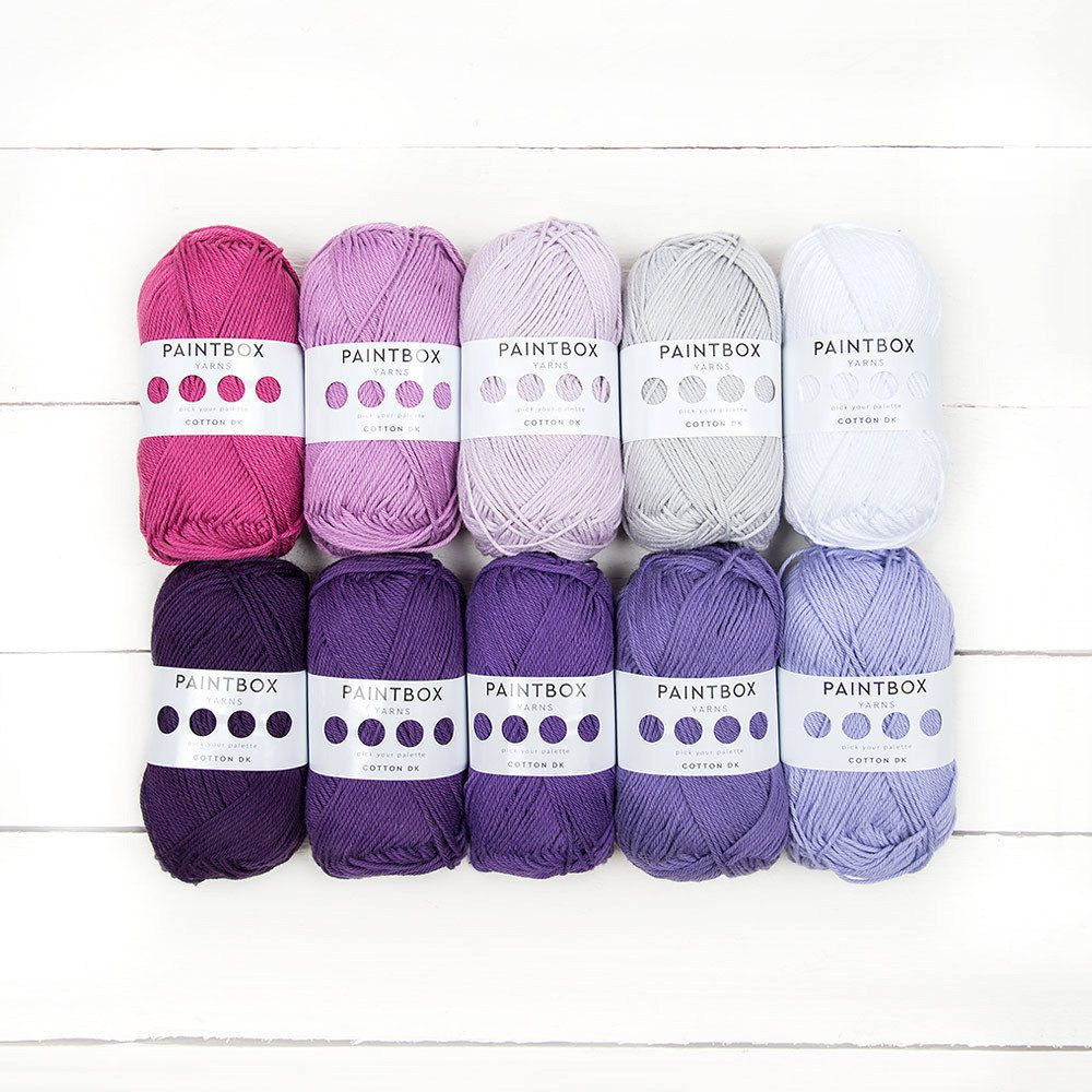 From Midnight To Duck Egg See: Paintbox Yarns Cotton DK 10 Ball Color Pack