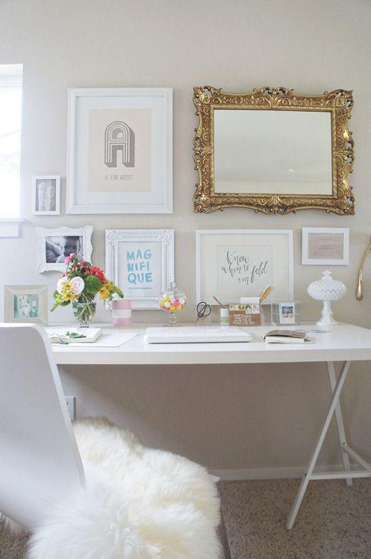 eine arbeitsecke f r m dchen arbeitszimmer dekorative. Black Bedroom Furniture Sets. Home Design Ideas