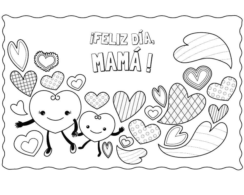 Dibujos Del Dia De La Madre Para Imprimir Y Colorear Dibujos Del