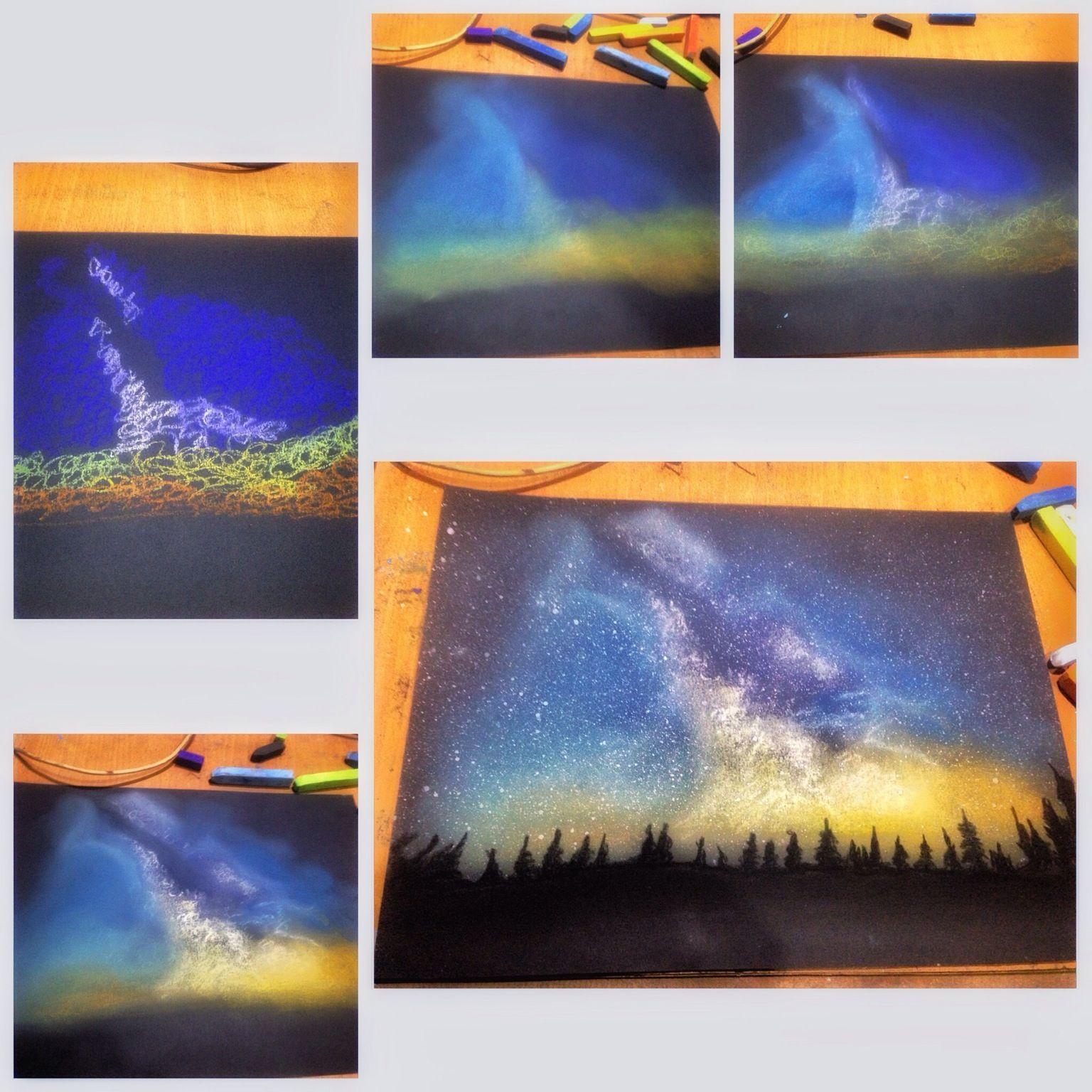 Rainbow landscape original oil pastel drawing - 0811fde999104caaaa1544789334b0bb 1536 1536 Pastel Artworkpastel Paintingschalk