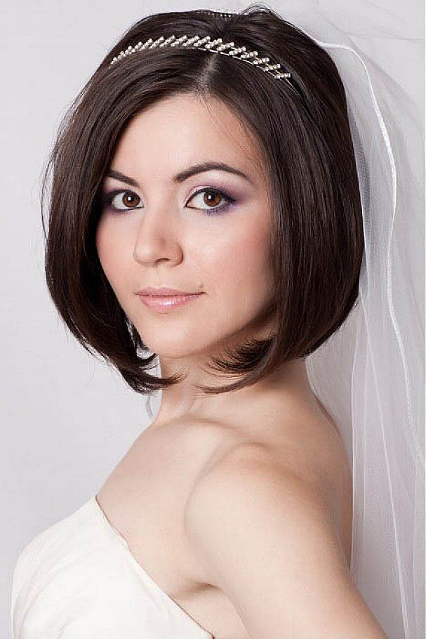 Bridal Bob Headband Google Search Bob Wedding Hairstyles Short Wedding Hair Hair Styles