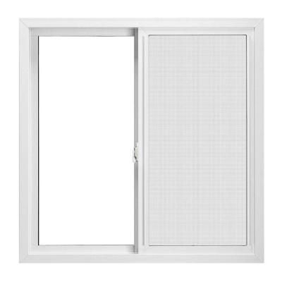 Jeld Wen V 4500 Series Left Hand Premium Sliding Vinyl Windows 36 In X 24 In White With Insulated Lowe G Window Vinyl Sliding Vinyl Windows Sliding Windows