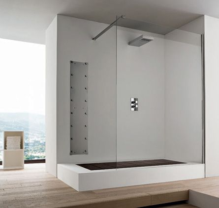 "Contemporary Bathroom Showers and this is the convertible rexa shower with the shower ""floor"