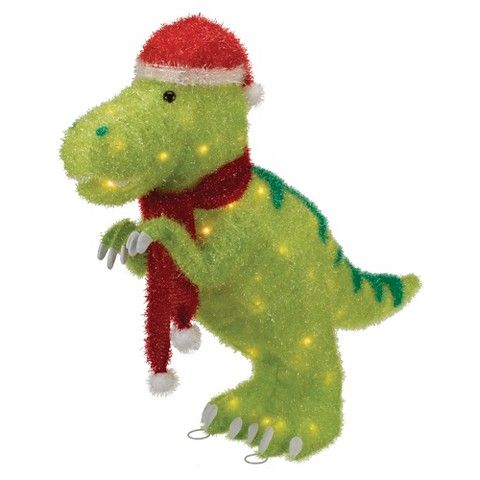 Tinsel Dinosaur Lit Décor Target