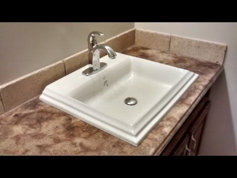 How To Install An Overmount Bathroom Sink Youtube With Images