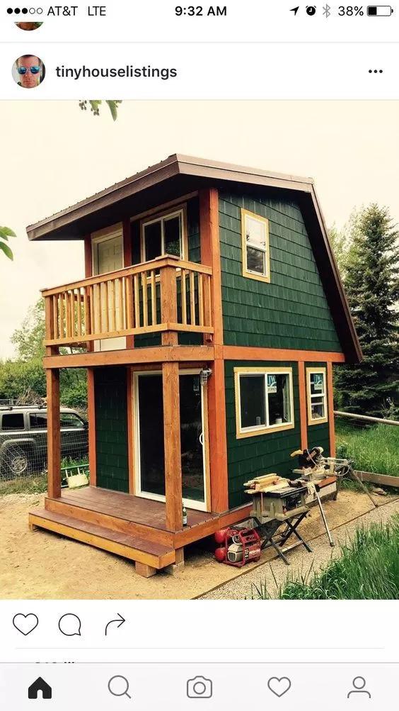 Красивые дачные домики и сад — 20 фото идей   Домики ...