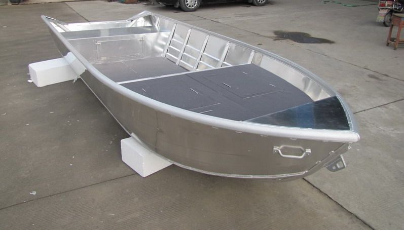 Aluminum Skiff Fishing Boats Welded Aluminum Boats Boats And Recreation Pinterest