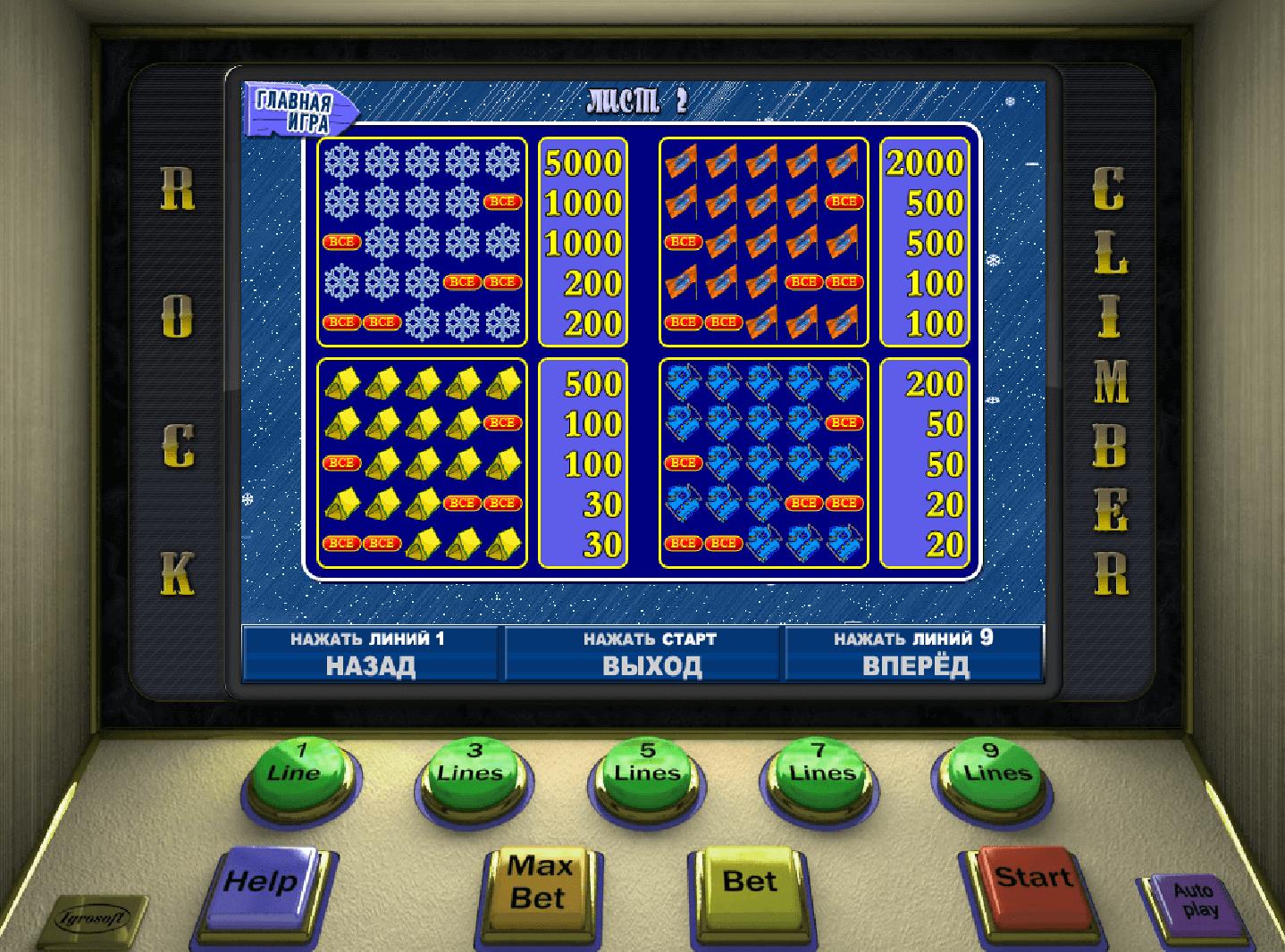 Игровые автоматы скачать бесплатно скалолаз с торрента игровые автоматы в твери