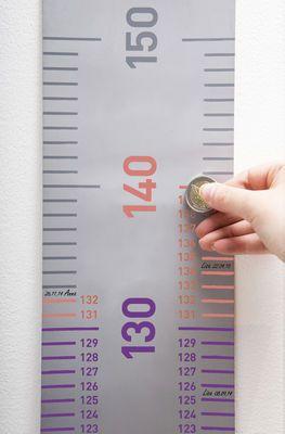 Toise Grow up / A gratter - 50 à 150 cm Gris - Pa Design   bb ...