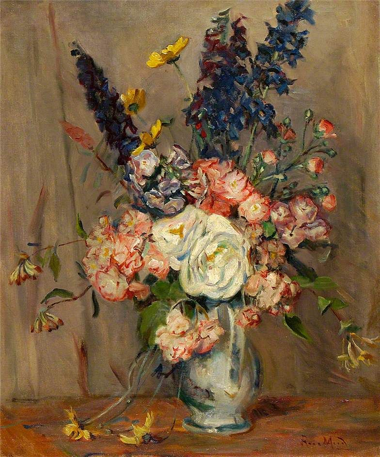 Rose Mead (1867-1946)  —  A Jug of Summer Flowers (784x944)