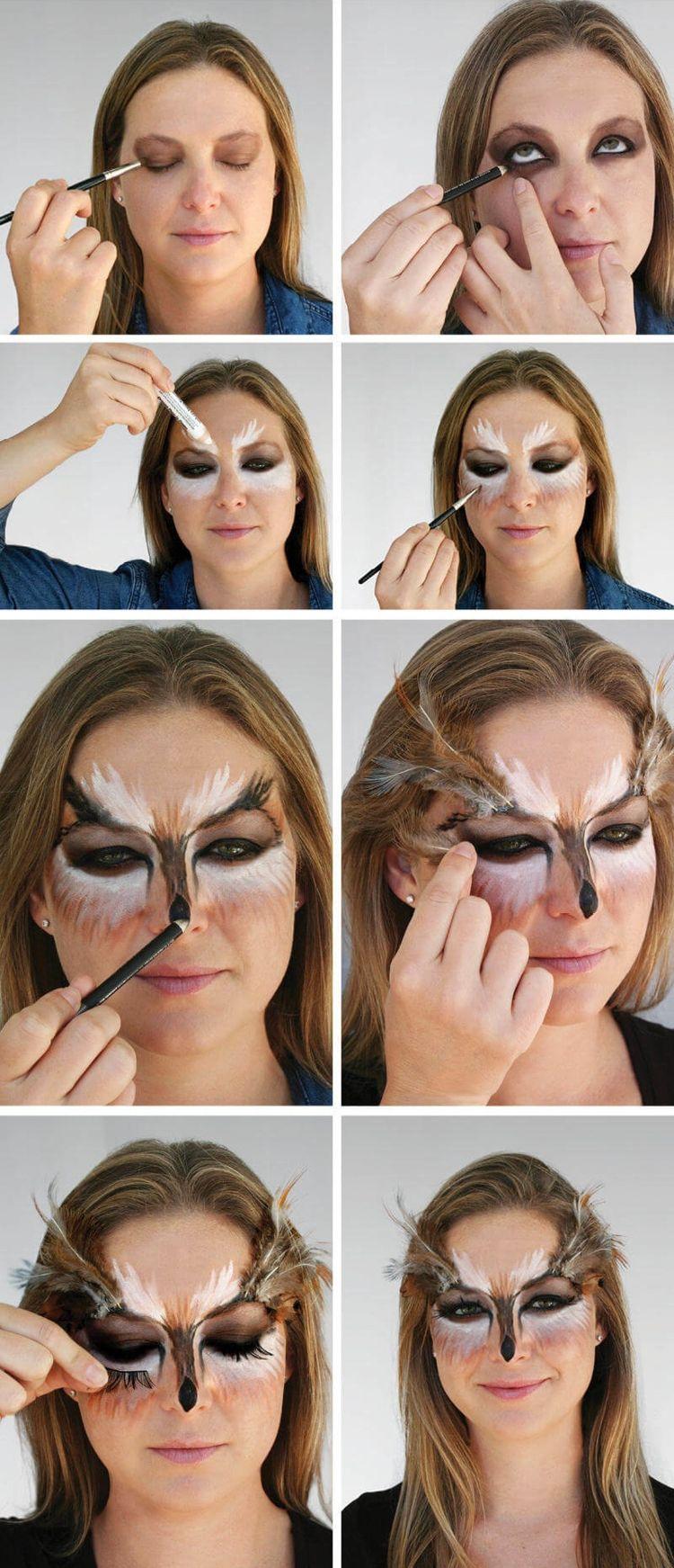 Maquillaje en búho – Ideas atractivas para búhos Maquillaje en carnaval ilustrado en imágenes – Nuevo mejor