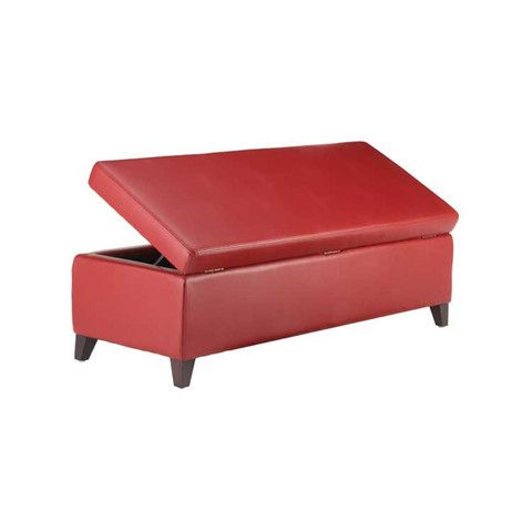 Oslo Leather Storage Bench Storage Ottoman 9 Colors Kasala
