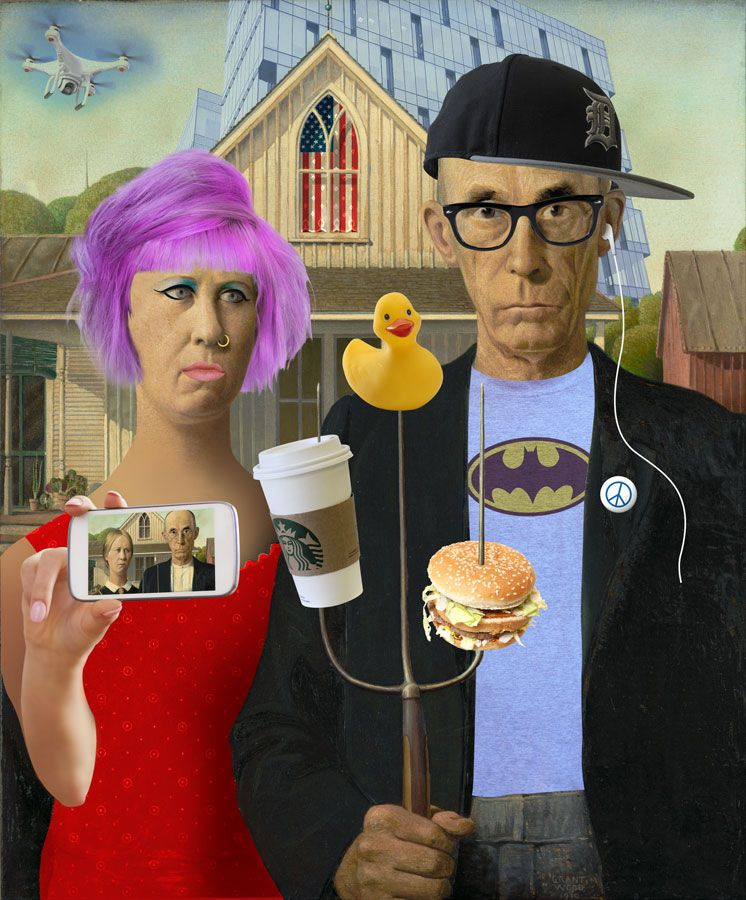 American Gothic Real Ann Arbor Art Center Exhibition 117 Gallery