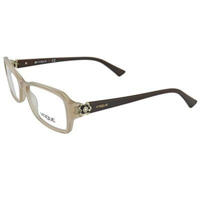 256bf3cb8 armação de óculos de grau feminino vogue nude com marrom | óculos ...