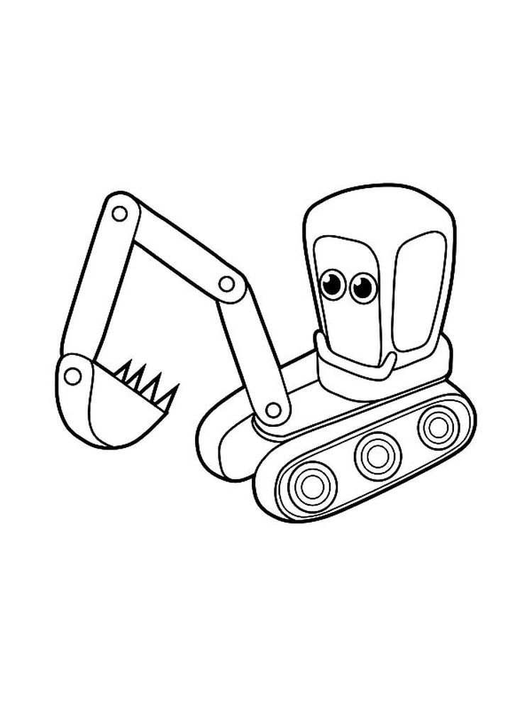 Excavator Coloring Pages To Print Excavators Are Heavy Equipment Consisting Of Arms Booms And Buckets And Are Driven By Hydraulic Power Driven By A Diese Warna