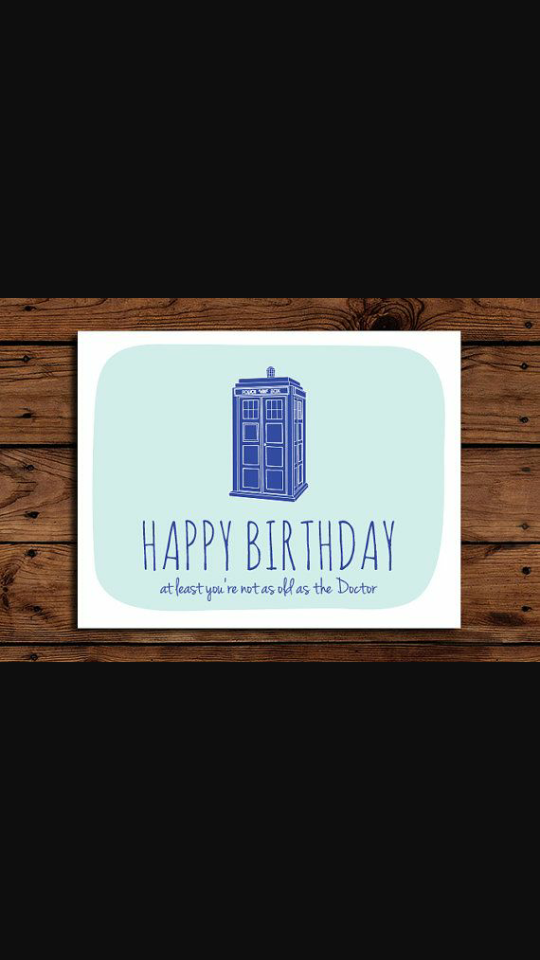 Doctor Who Birthday Card Card Pinterest