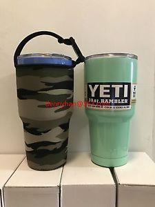 e04cd0f59316a1 Camouflage Pattern Neoprene Bottle Carry Bag For Rtic&YETI Tumbler Rambler  30oz
