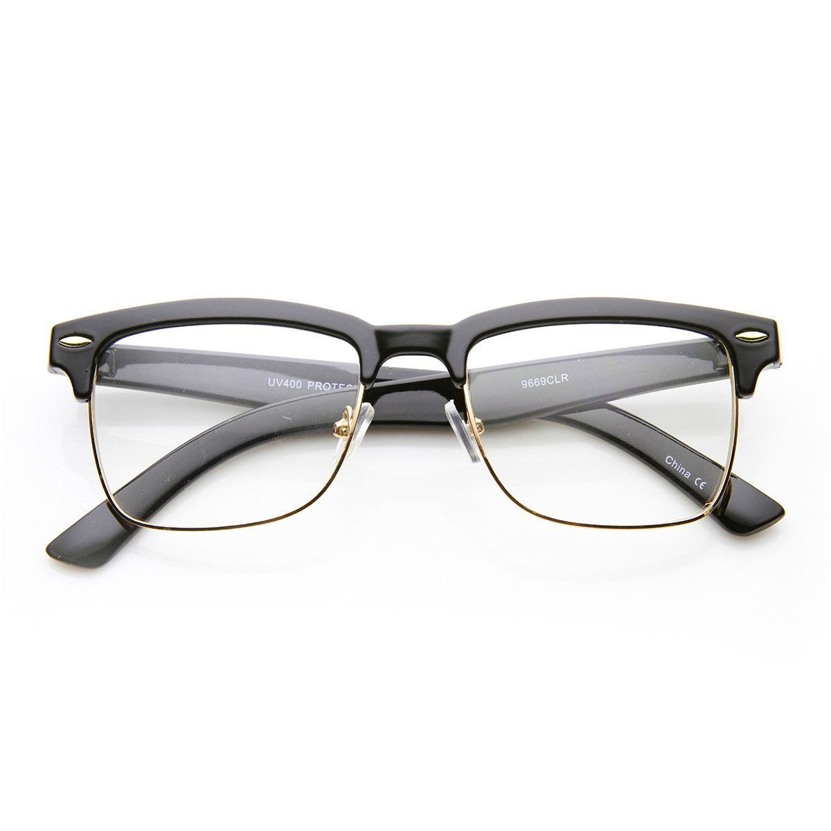 unisex square medium semirimless modern fashion glasses  modern  - unisex square medium semirimless modern fashion glasses
