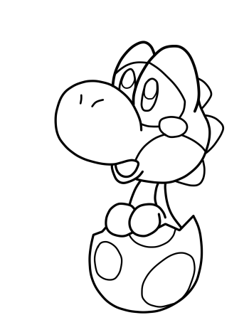 Baby Yoshi Coloring Pages 3 by