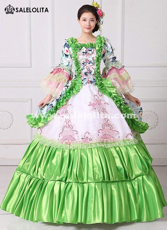 Women's Clothing New 18th Century Masquerade Ball Gown Southern Rococo Belle Dress Reenactment Theatrical Clothing Vestido Dresses