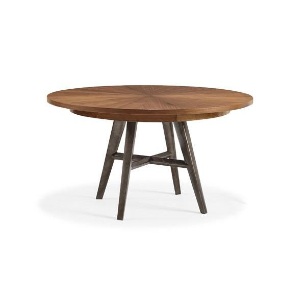 Caracole modern craftsman round extension dining table