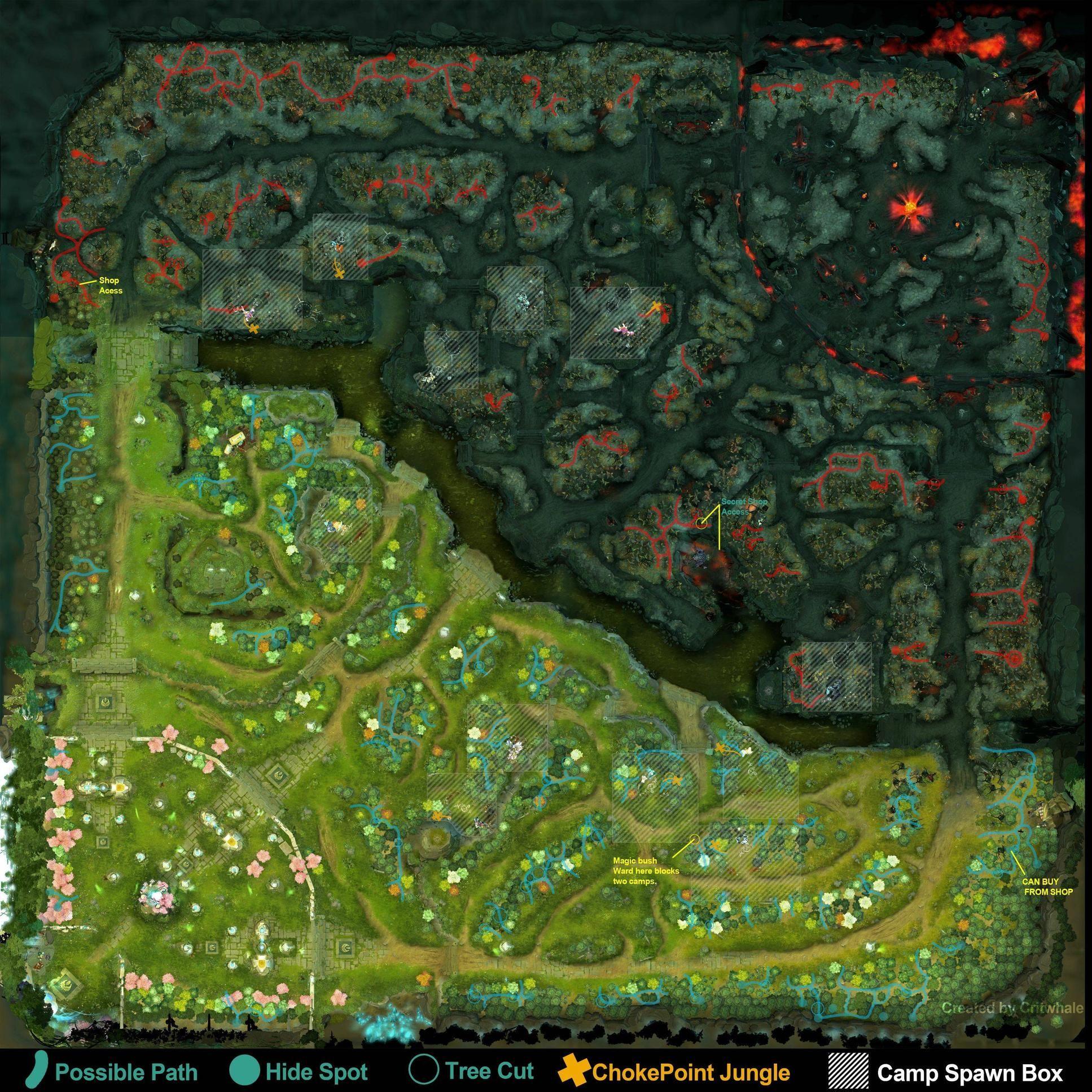 Dota 2 Map Layout Map Layout Dota 2 Map Design