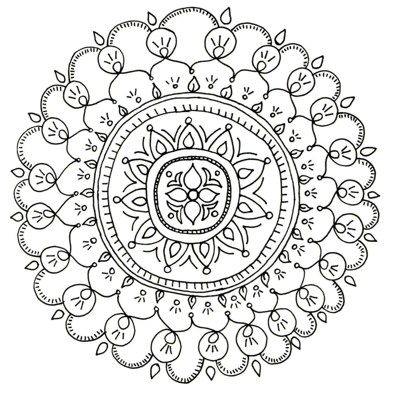 Sun mandala coloring pages - Free Printable Coloring Pages For Adults