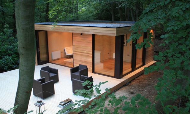Article Source: In.it.studios Contemporary Garden Studio Room/ Slough, UK  Set In The Rural Forests Of England, The Cedar Clad U0027guest Houseu0027 Is  Nestled ... Part 86