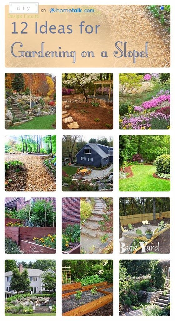 Sloped garden on pinterest railway sleepers garden for Garden designs on a slope