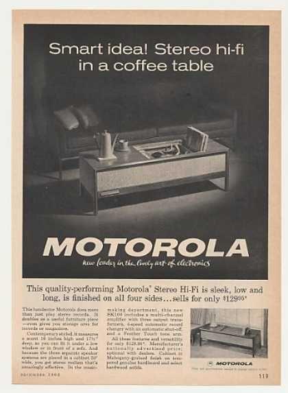 Motorola Stereo Hi-Fi Coffee Table Photo (1962) | Consoles and hi ...