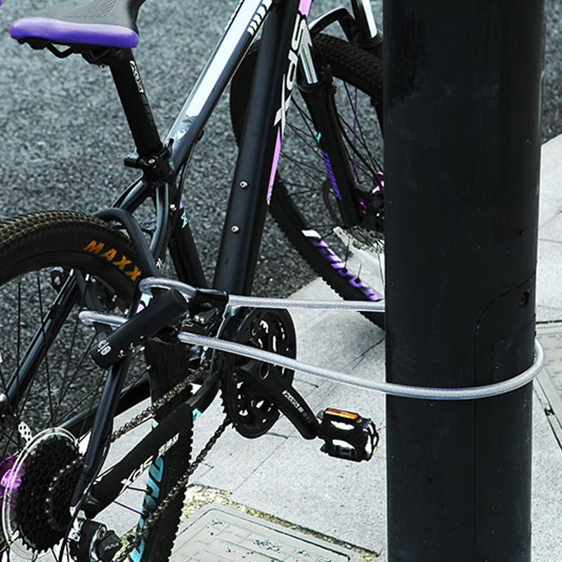 Bicicletta U Blocco Cavo Acciaio Mtb Strada Bicicletta Blocco