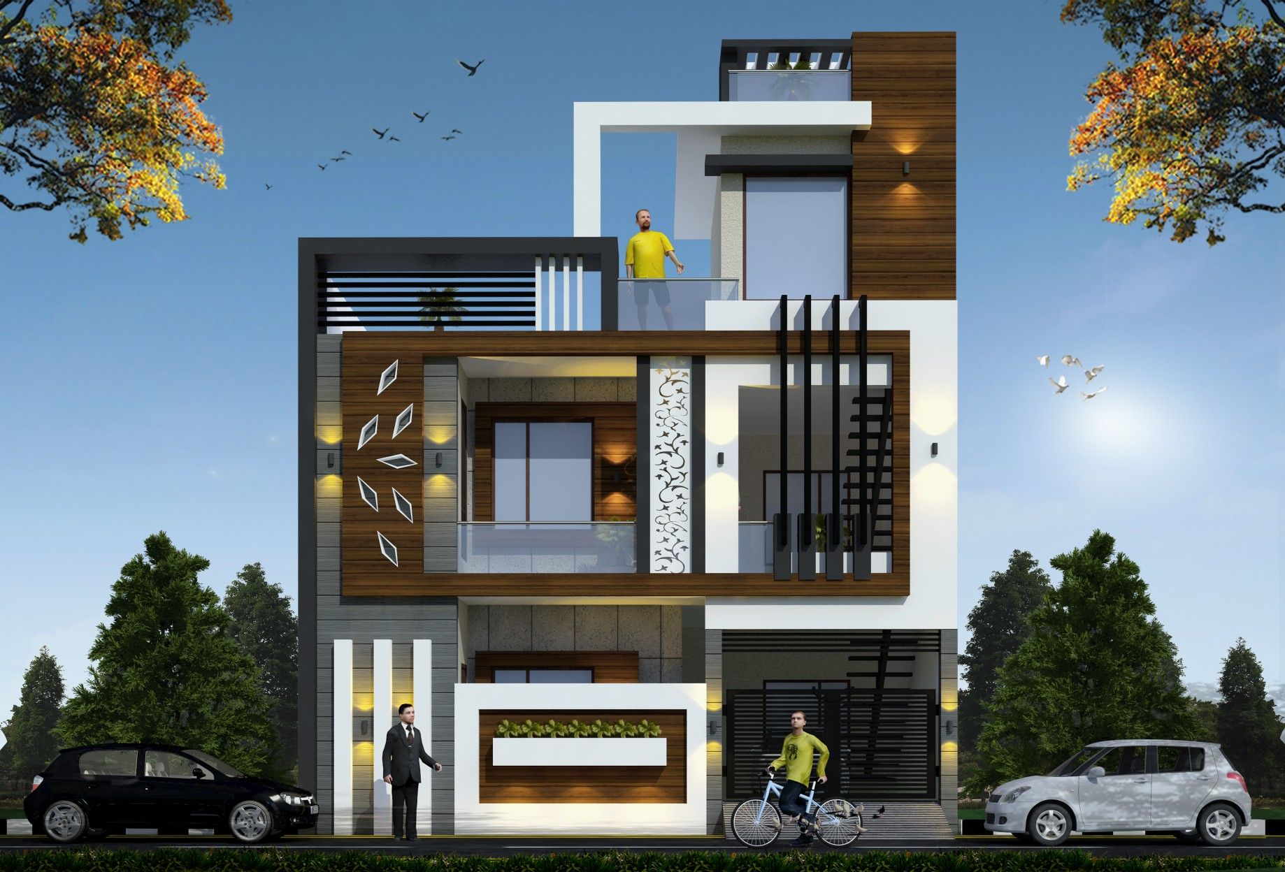 Pin By Ranjit Singh On Architecture House Outer Design Duplex House Design Small House Elevation Design