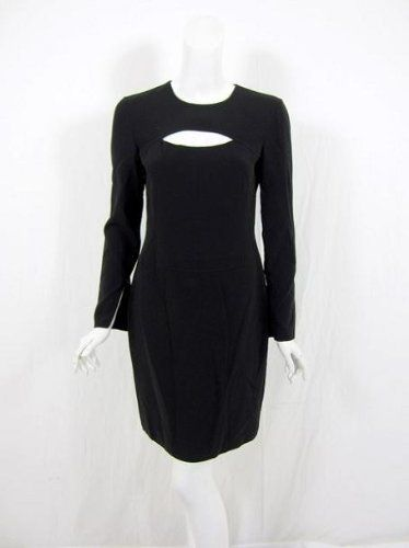 Long sleeves with invisible zipper details at cuffs... Michael Kors womens black cutout bust dress 8 Michael Kors,  http://www.amazon.com/gp/product/B005SWJCHC/ref=as_li_qf_sp_asin_tl?ie=UTF8=1789=9325=B005SWJCHC=as2=pklfb-20