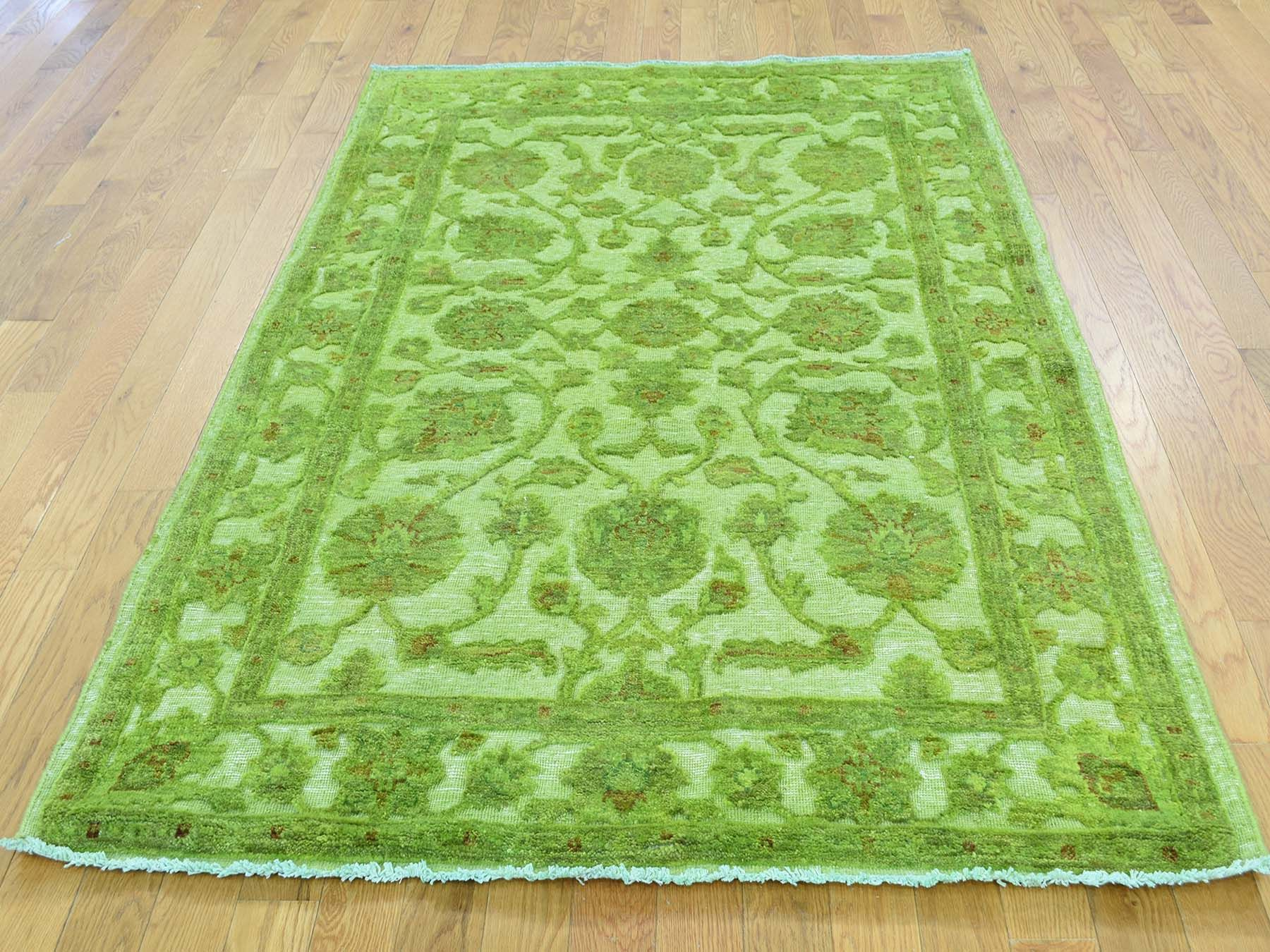 4 X6 2 Hand Knotted Overdyed Hi And Low Pile Pure Wool Oriental Rug Wool Oriental Rugs Store Sale Green Oriental Wool Rugs Colorful Rugs Oriental Rug