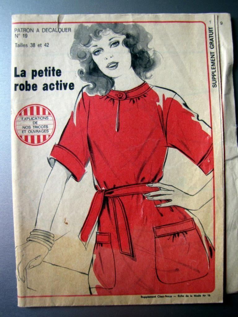 Ancien Patron Echo DE LA Mode Petite Robe Acitive T 38 ET 42 French 19 | eBay