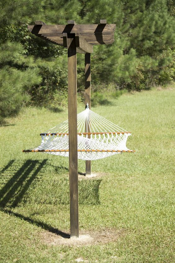 escaping to a backyard hammock is a special treat  but without sturdy hang worthy trees your options are fairly limited  if you u0027re the diy type     how to build a diy pergola hammock stand in a weekend for under      rh   pinterest
