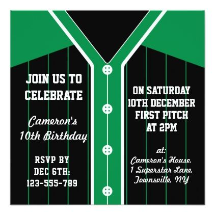 Baseball jersey themed party invites template stopboris Image collections