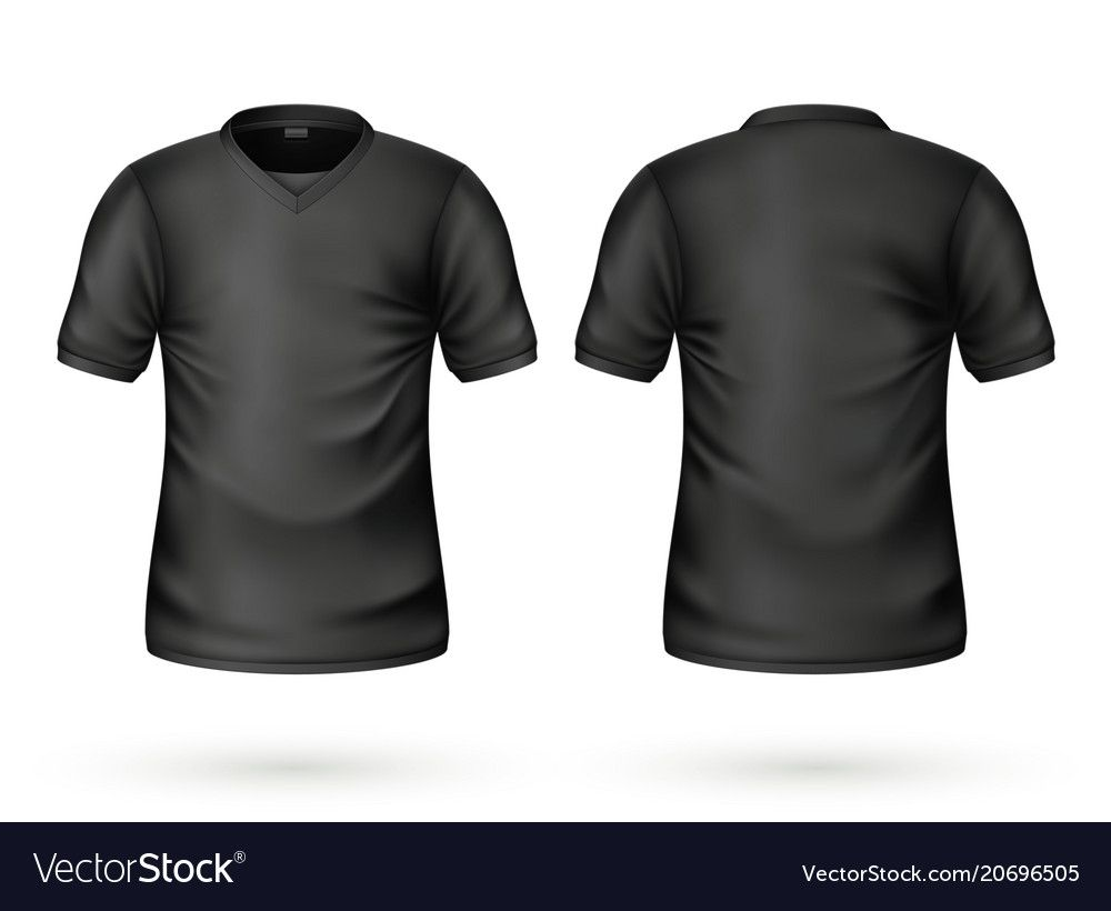 Download T Shirt Black Mockup Realistic Unisex Male Female Blank Clothing Template Men Women Cotton Apparel Front Back View Casual Wear Ready Fo Desain Desain Logo