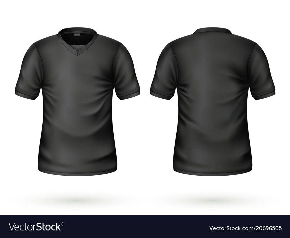 Download T Shirt Black Mockup Realistic Unisex Male Female Blank Clothing Template Men Women Cotton Apparel Front Back View Casual Wear Ready Fo Desain Desain Logo