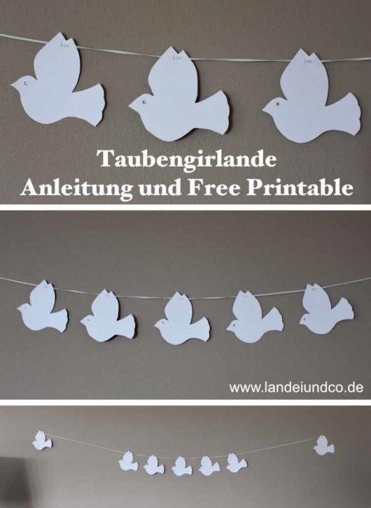Tauben Landeiundco De In 2020 Christening Banner Crafts For Kids Crafts