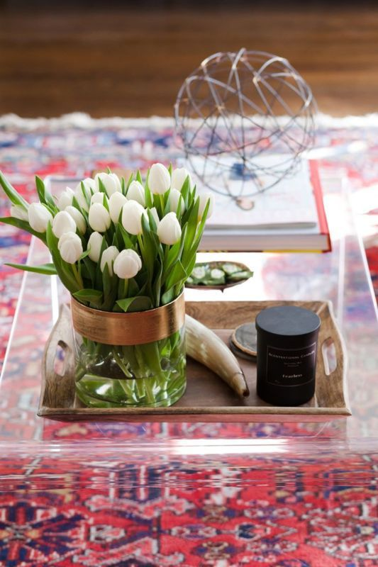 How To And Style A Clear Or Lucite Coffee Table