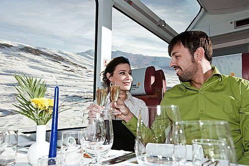 Getränke im Glacier Express