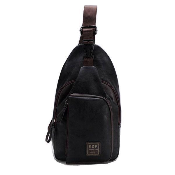 fc46c7cf7e6 Men PU Crossbody Bag Capacity Leisure Shoulder Bag in 2019   Products   Crossbody  bag, Bags, Shoulder Bag