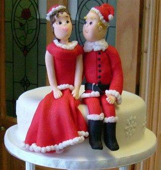 Christmas wedding cake toppers #christmas #wedding   Merry ...