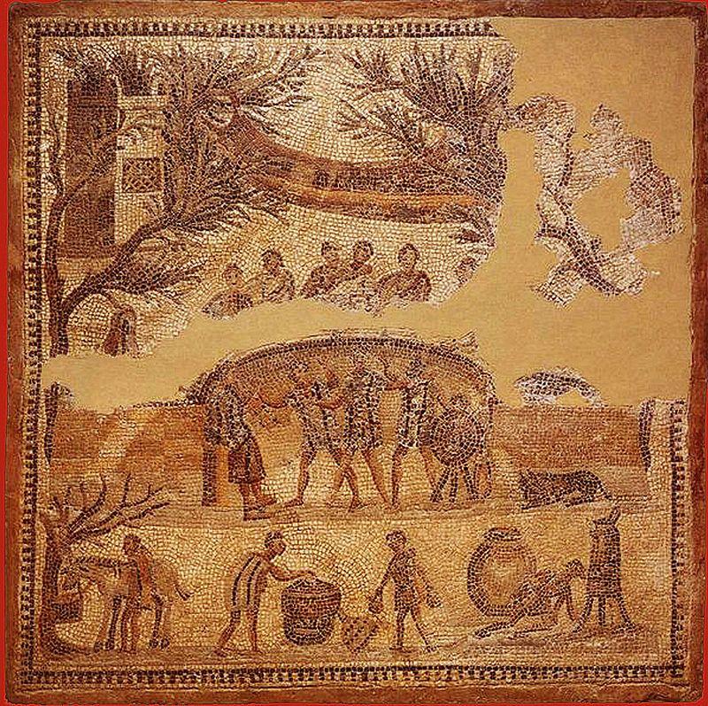 Repas champ tre mosa que romaine d 39 ostie cuisine de la - Cuisine de la rome antique ...